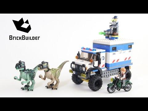 Lego Jurassic World 75917 Raptor Rampage - Lego Speed Build