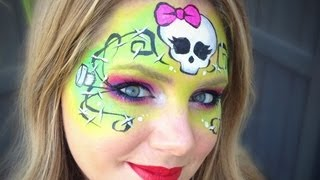 Monster High Makeup / Face Painting Tutorial - Frankie Stein