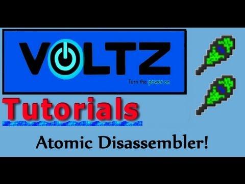 Atomic Disassembler (Mekanism) Voltz Tutorial