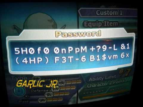 Budokai Tenkaichi 3 - Red Potara Passwords (PS2)