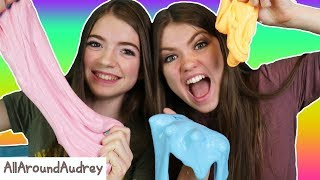 Making FLUFFY, GLOW IN THE DARK, And NEON SLIME From Smoothfoam MEGA Slime Kit! / AllAroundAudrey