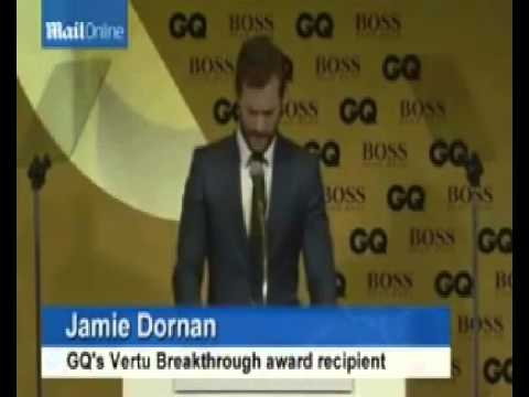 Jamie Dornan wins the Vertu Breakthrough Artist Of The Year Award