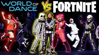 Fortnite Viral Dances On World Of Dance 2018 (Part 2)