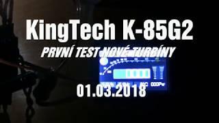 KingTech K-85G2 - První test nové turbíny
