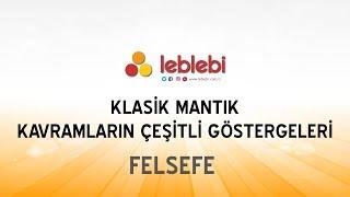 FELSEFE / KLASİK MANTIK / KAVRAM - TERİM / KAVRAMLARIN ÇEŞİTLİ GÖSTERGELERİ -