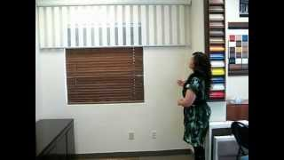 Vertical Dual Shade - amazing solution for patio doors