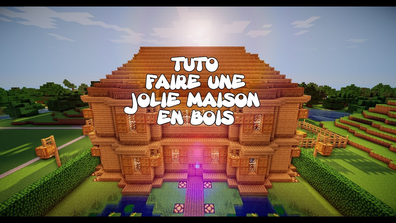 Tuto minecraft faire une jolie maison en bois youtube for Modele maison minecraft