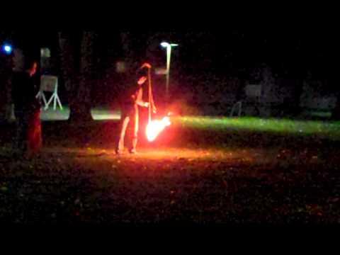 Paul's First Burn, Joey H. With Rope Dart (practice Burn) video