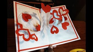 Pop Up Card: Heart ❤ Easy Pop Up Card Tutorial ❤ Pop Up card Mother's Day ❤ Valentine Pop Up Card