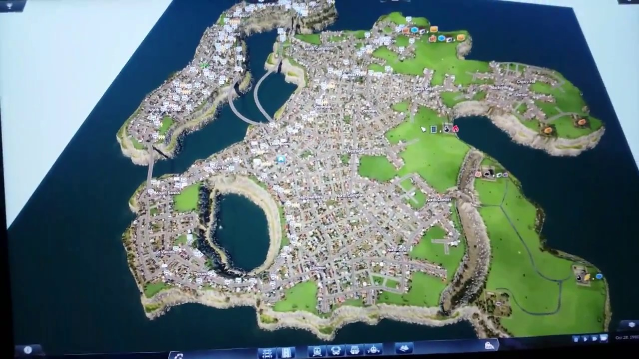 Transport Fever Giant City Map From Map Creator Youtube