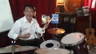 Drum Lesson No 42. Ứng dụng kỹ thuật liên 4 móc kép cho Bass Drum
