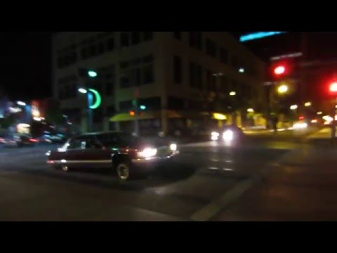 Lowrider cruising Route 66 downtown Albuquerque, New Mexico