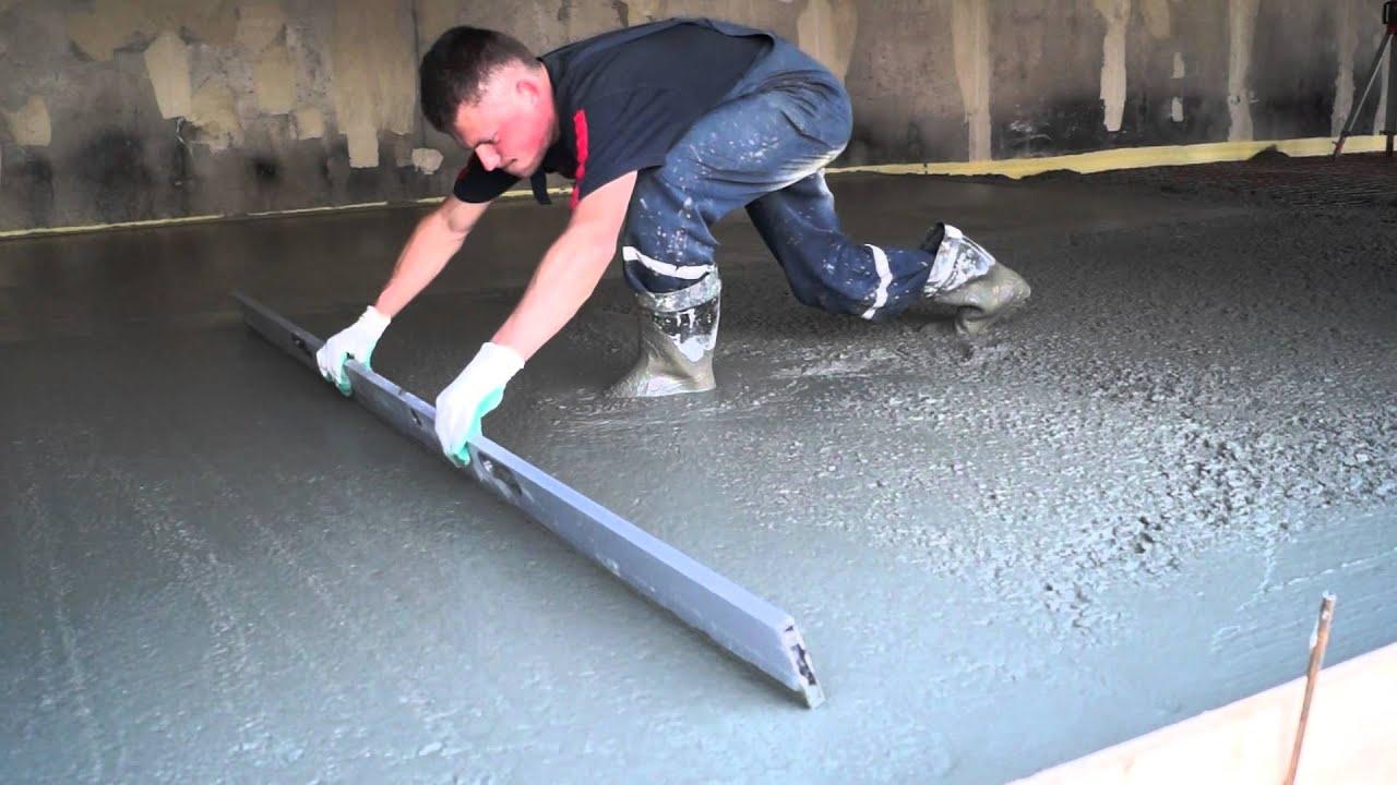 Заливка пола в гараже бетоном своими руками пропорции 71