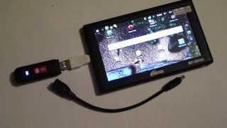 3G modem+переходник+планшет Ritmix RMD 720