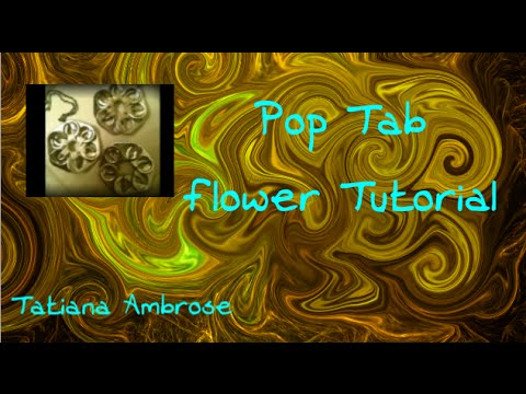 ❀Pop Tab Flower Pendant Tutorial by ambroset1990❀