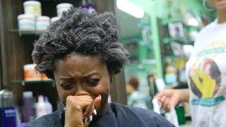 Salon Visit| Wash & Go on 4C Natural Hair
