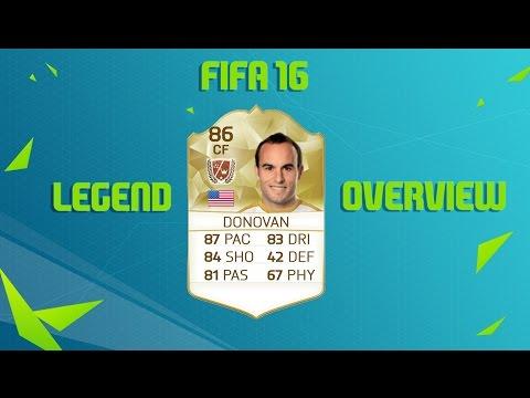 FIFA 16 ULTIMATE TEAM LANDON DONOVAN 86 RATED LEGEND OVERVIEW