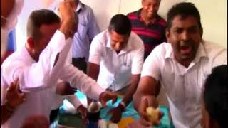 Fight, eat cake, and fight again - Here are the SLFP and UNP members of Bope-Poddala PS