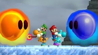 Newer Super Mario Bros Wii - All Bosses (2 Player)