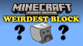 ✔ Weirdest Block Ever! - Minecraft PE