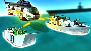 Craziest Vehicles Ever Create Epic Air and Sea Battles in Ravenfield!