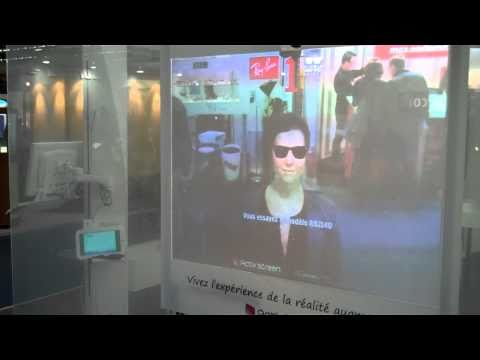 Ray-Ban's Virtual Glasses Fitting Shop Window  - Augmented By Activ'screen and Total Immersion