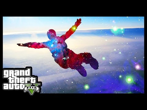 Disputa online de paraquedas no GTA 5 - Parachute Jumps on Grand Theft Auto V