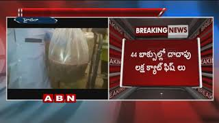Huge number of catfish seized at Shamshabad airport