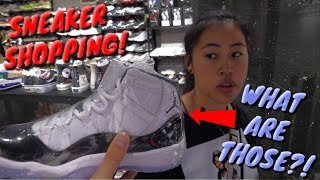 CRAZY SNEAKER SHOPPING w/ MY SISTER!!