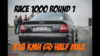 318 Kmh RS4 Limo von Philipp Kaess beim Race 1000 Round 1 / Halbe Mile Team Arlows Hannover Hardcore