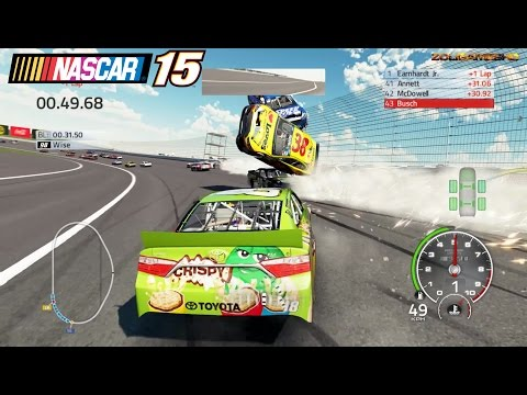 Best Crashes in a Circle Simulator: Nascar'15 The Game