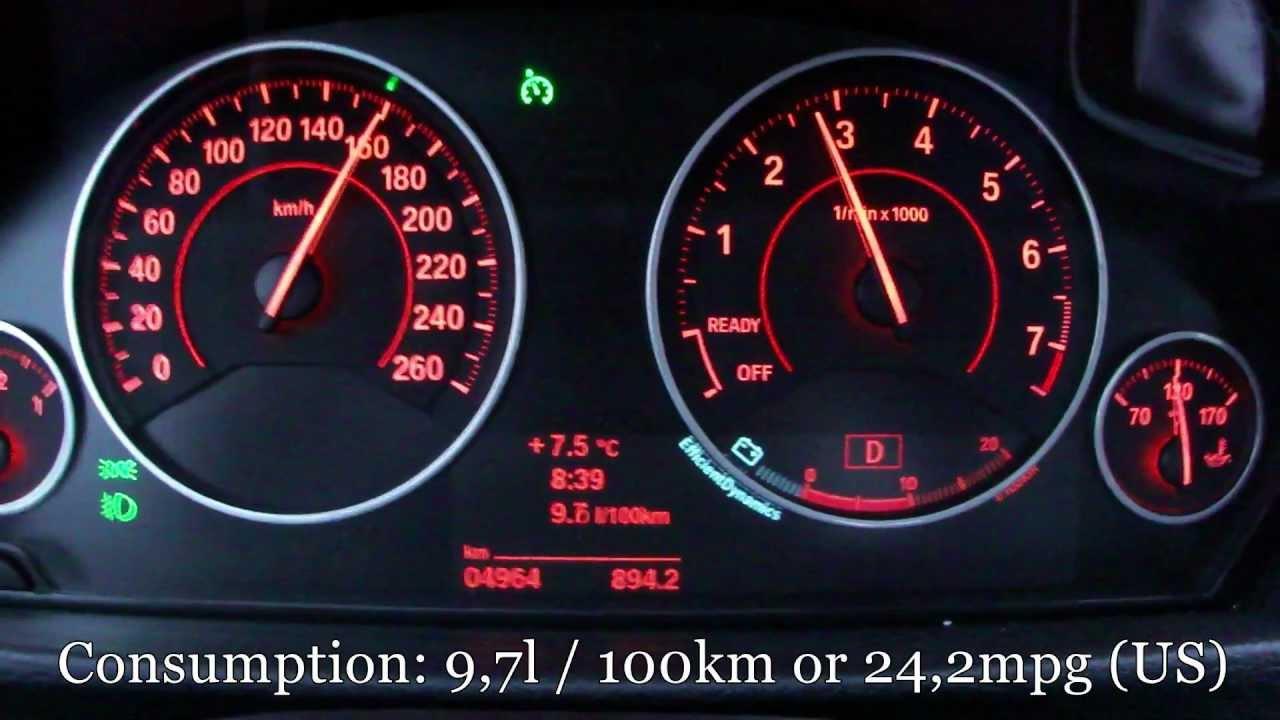 2013 Bmw 335i Fuel Consumption Test Youtube