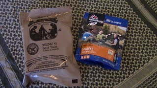 MRE vs Freeze dried meal