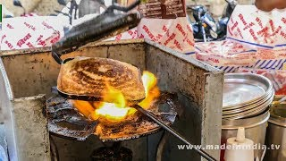 CHEESE MASALA TOAST SANDWICH MAKING | STREET FOODS 2018 street food