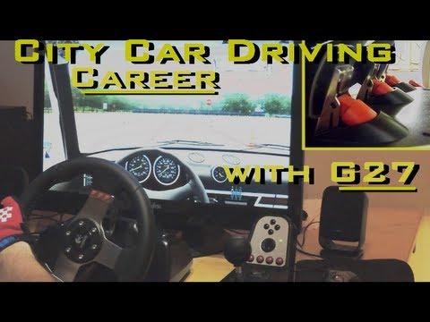 City Car Driving, 3D Instructor - Logitech G27 | Career Mode | Steering Wheel, feet, clutch, manual.