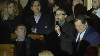 Avraham Fried Entrance at Concert in Saint Petersburg Russia