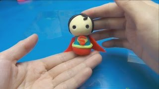 How to Make Superman Doll with Play-Doh  - DIY Playdough