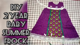 2 year baby summer frocks cutting and stitching tutorial in easy way
