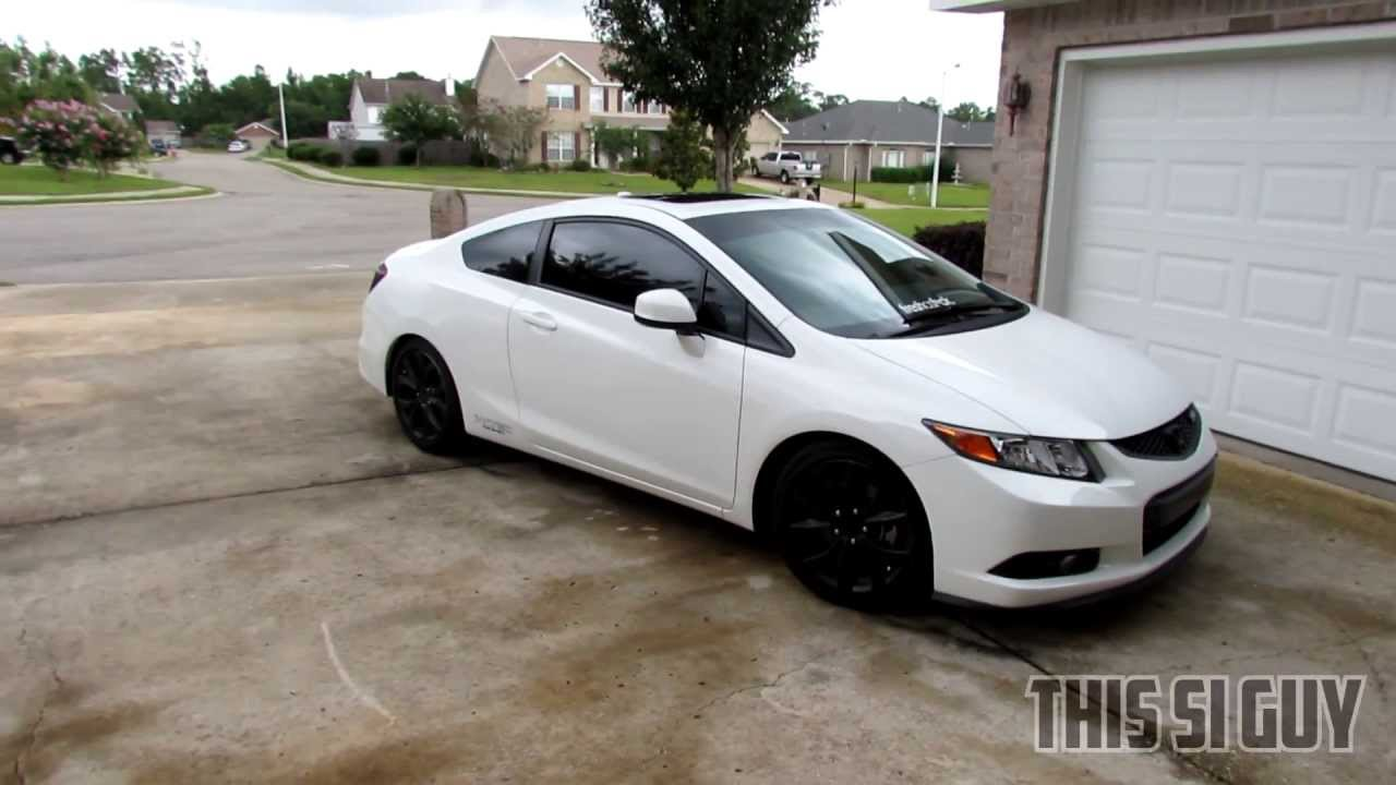 2012 Civic Si H Amp R Lowering Springs Youtube