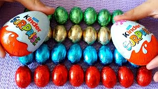 Learing  Colors with Chocolate Easter Eggs for Children, Toddlers and Babies