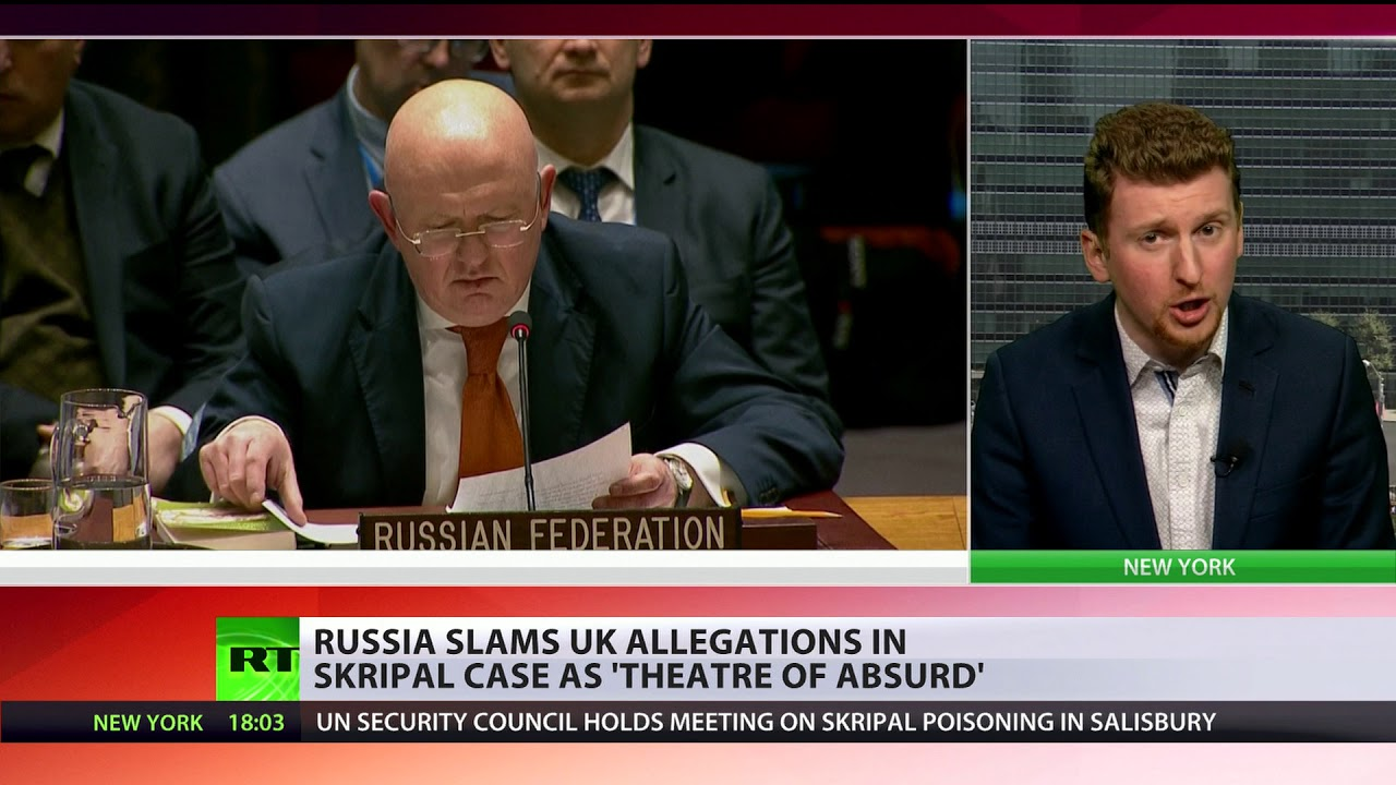 'Theater of absurd': Russian envoy shows UK version of Skripal case 'falls apart'
