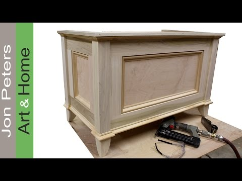 Make a blanket chest / Toy chest by Jon Peters - YouTube
