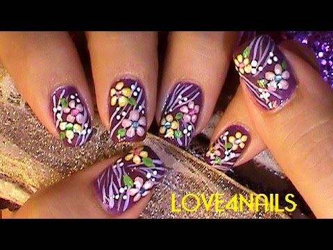... Elegant Flower Nail Art Design Tutorial | How To Make & Do Everything