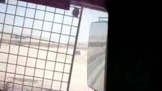 Keven Dagit up-armored truck in Iraq