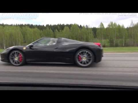 Ferrari 458 Spider vs 9ff GTurbo 750 Porsche 911 GT3 RS based