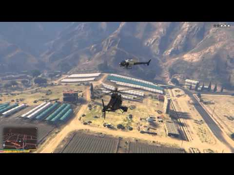 GTA 5 - Вертолет, война
