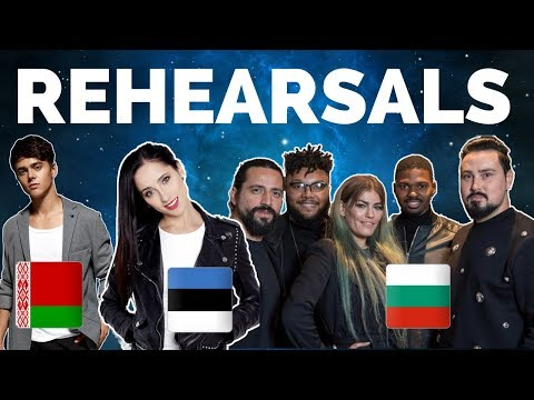 Eurovision 2018 - Belarus, Estonia & Bulgaria Rehearsal (Press Center)