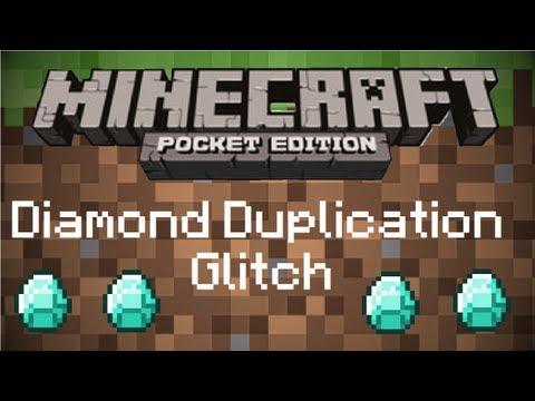 Minecraft Pocket Edition 0.9.0 Alpha Diamond Duplication Glitch!
