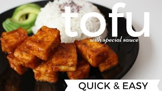 QUICK & EASY TOFU WITH SPECIAL SAUCE VEGAN OF COURSE   WWW.LONDONAFROVEGAN.COM