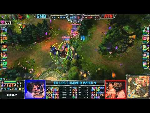 Gambit Gaming (GMB) vs Alternate (ATN) || Super week EU LCS Summer 2013 W9D1 || Full Game HD
